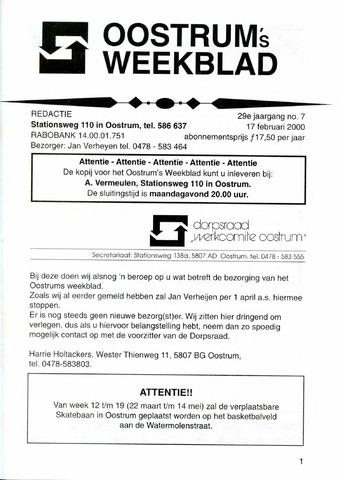 Oostrum's Weekblad 2000-02-17
