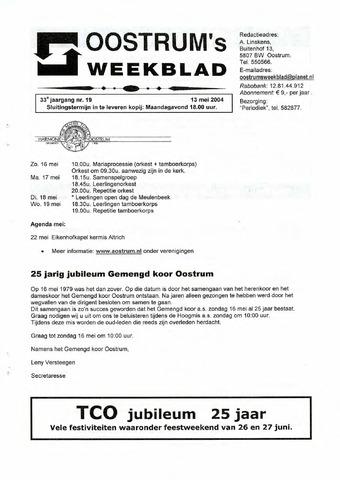Oostrum's Weekblad 2004-05-13