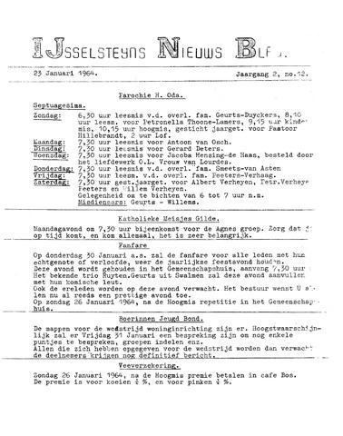 Ysselsteyns Nieuwsblad 1964-01-23