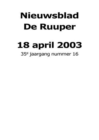 Dorpsblad Leunen-Veulen-Heide 2003-04-18