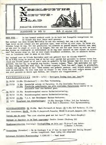 Ysselsteyns Nieuwsblad 1991-10-25