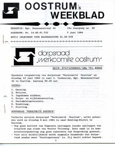 Oostrum's Weekblad 1984-06-07