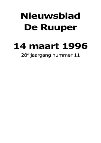 Dorpsblad Leunen-Veulen-Heide 1996-03-14