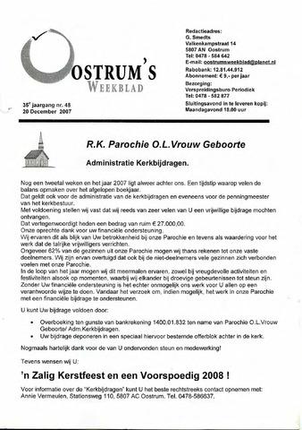 Oostrum's Weekblad 2007-12-20