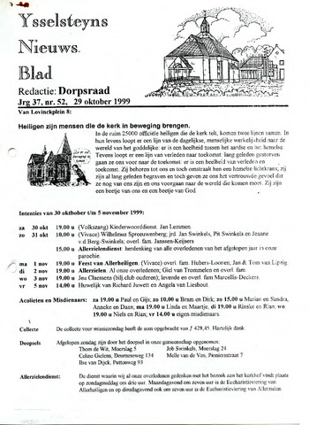 Ysselsteyns Nieuwsblad 1999-10-29