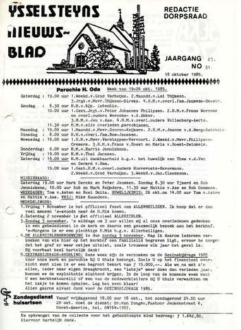 Ysselsteyns Nieuwsblad 1985-10-18