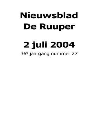 Dorpsblad Leunen-Veulen-Heide 2004-07-02