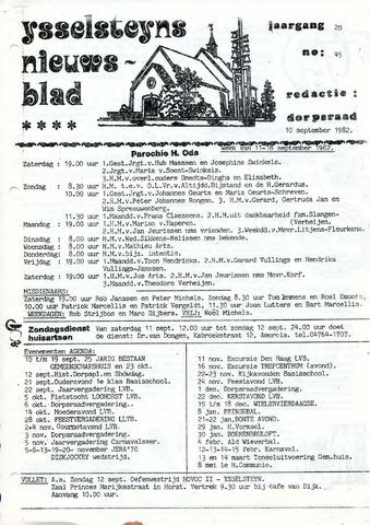 Ysselsteyns Nieuwsblad 1982-09-10