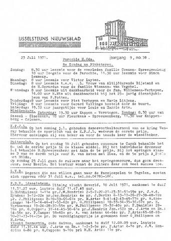 Ysselsteyns Nieuwsblad 1971-07-23