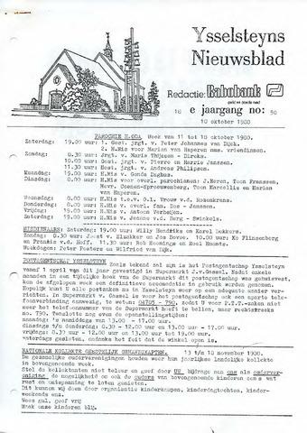 Ysselsteyns Nieuwsblad 1980-10-10