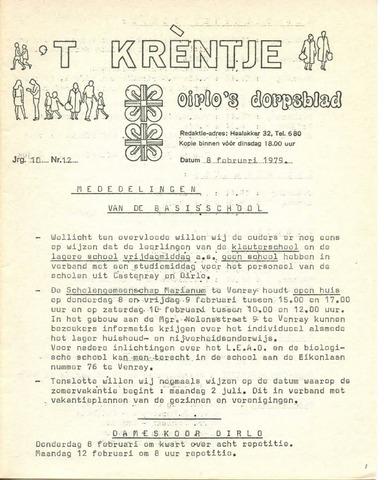 Oirlo's dorpsblad 't Krèntje 1979-02-08