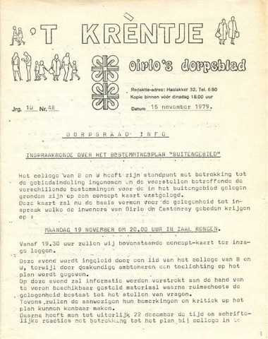 Oirlo's dorpsblad 't Krèntje 1979-11-15