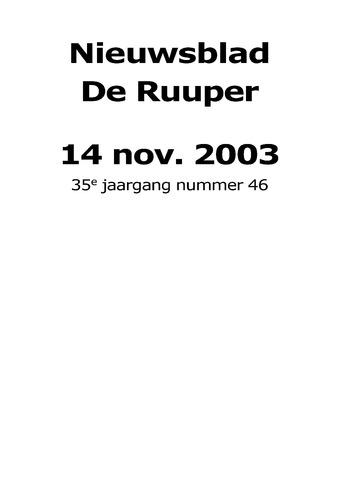 Dorpsblad Leunen-Veulen-Heide 2003-11-14