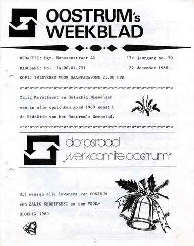 Oostrum's Weekblad 1988-12-22