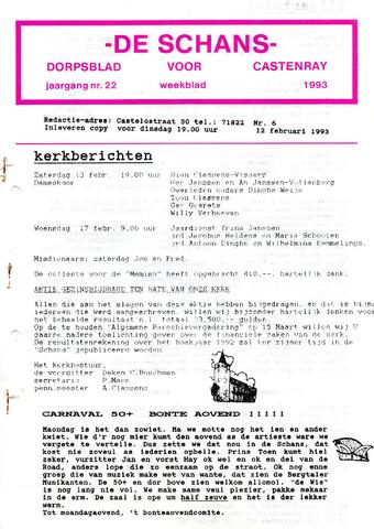 Castenrays dorpsblad De Schans 1993-02-12