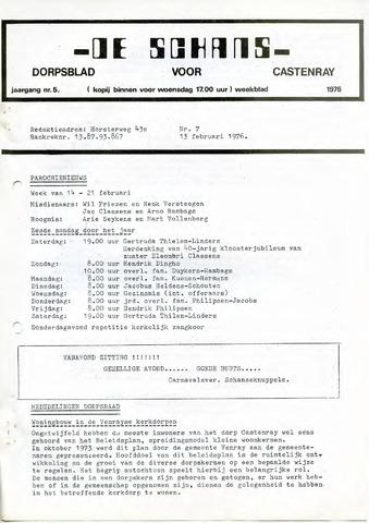 Castenrays dorpsblad De Schans 1976-02-13