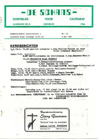 Castenrays dorpsblad De Schans 1986-05-09