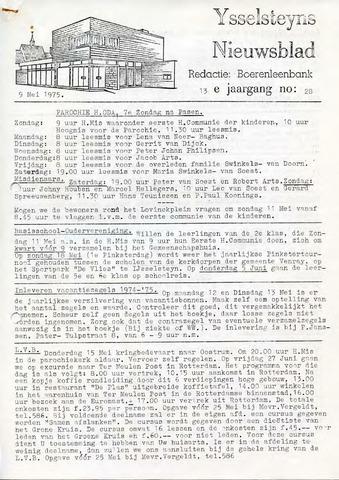 Ysselsteyns Nieuwsblad 1975-05-09