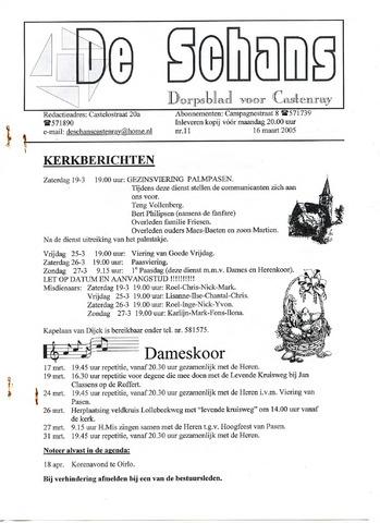Castenrays dorpsblad De Schans 2005-03-16