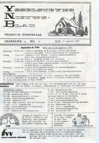 Ysselsteyns Nieuwsblad 1987-08-21