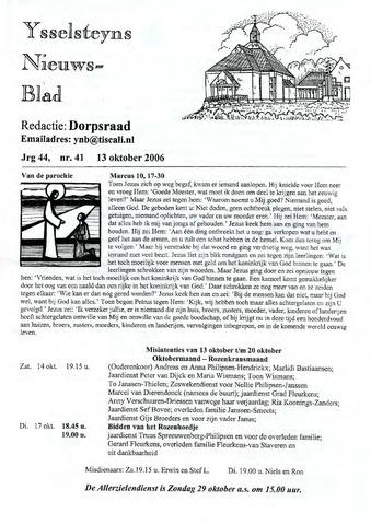 Ysselsteyns Nieuwsblad 2006-10-13
