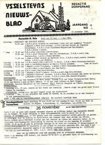 Ysselsteyns Nieuwsblad 1984-11-23