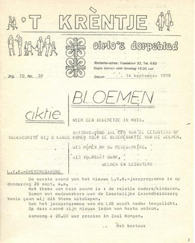 Oirlo's dorpsblad 't Krèntje 1979-09-14