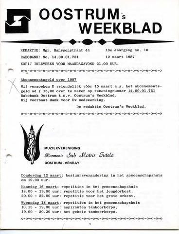 Oostrum's Weekblad 1987-03-12