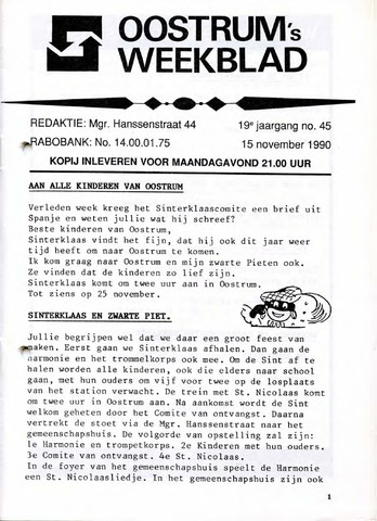 Oostrum's Weekblad 1990-11-15