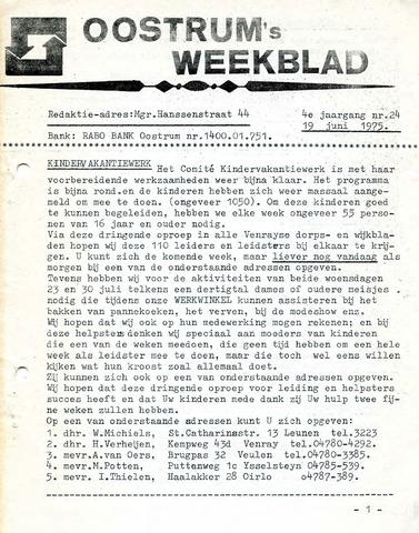 Oostrum's Weekblad 1975-06-19