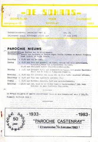 Castenrays dorpsblad De Schans 1983-05-27