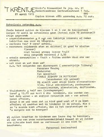 Oirlo's dorpsblad 't Krèntje 1972-04-21
