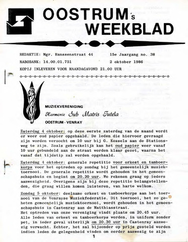 Oostrum's Weekblad 1986-10-02