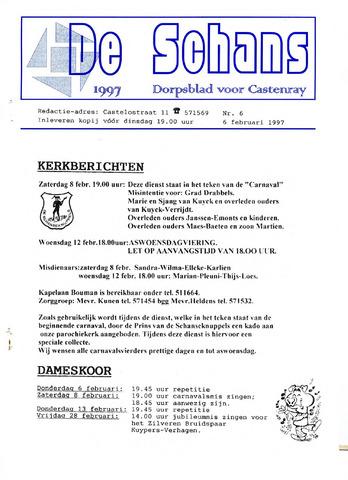 Castenrays dorpsblad De Schans 1997-02-06