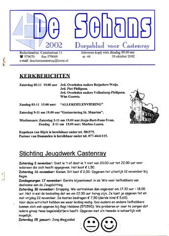 Castenrays dorpsblad De Schans 2002-10-30