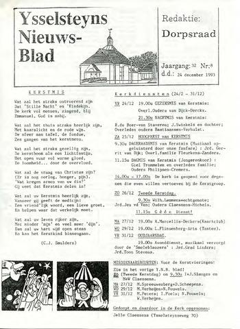 Ysselsteyns Nieuwsblad 1993-12-24