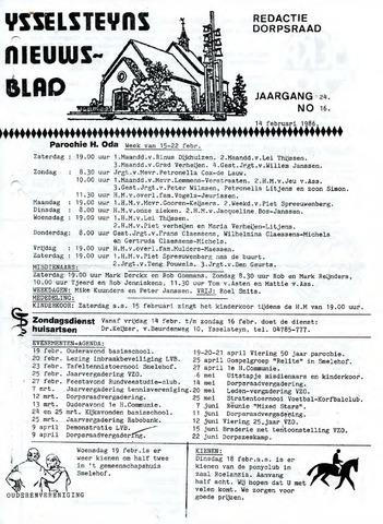 Ysselsteyns Nieuwsblad 1986-02-14