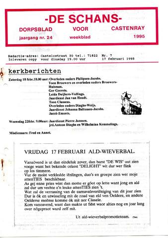 Castenrays dorpsblad De Schans 1995-02-17