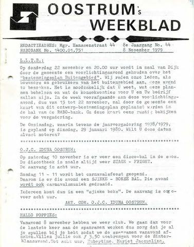 Oostrum's Weekblad 1979-11-08