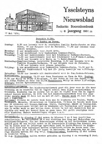 Ysselsteyns Nieuwsblad 1974-05-17