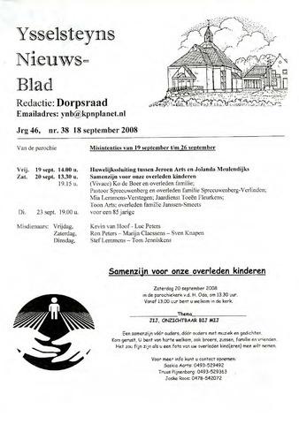 Ysselsteyns Nieuwsblad 2008-09-18