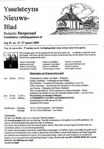 Ysselsteyns Nieuwsblad 2009-03-27