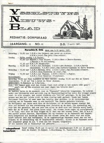 Ysselsteyns Nieuwsblad 1987-04-03