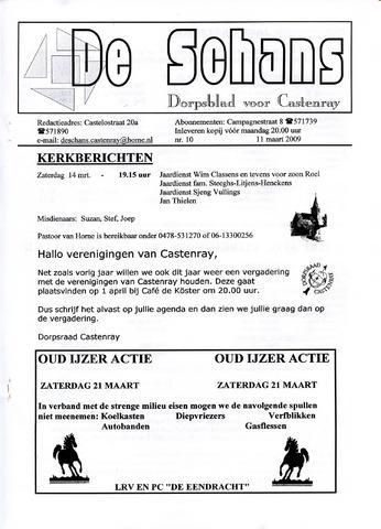 Castenrays dorpsblad De Schans 2009-03-11
