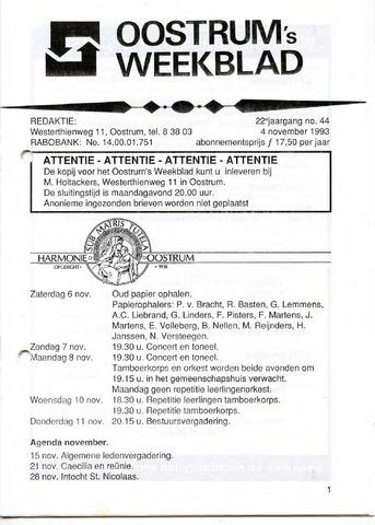 Oostrum's Weekblad 1993-11-04