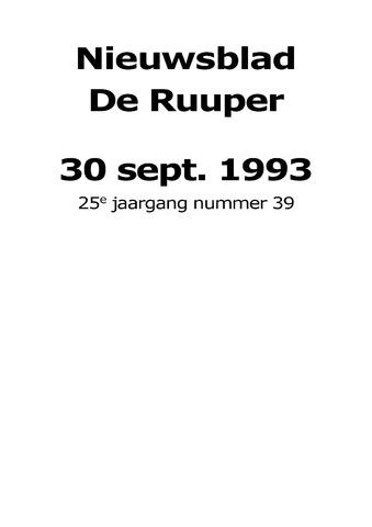 Dorpsblad Leunen-Veulen-Heide 1993-09-30