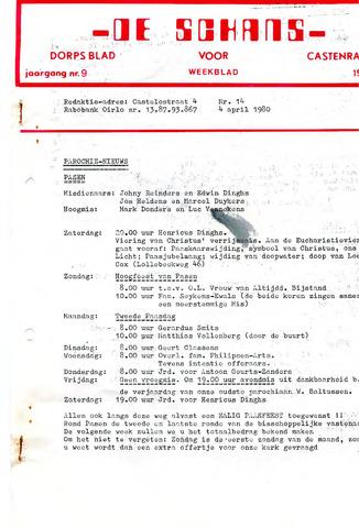 Castenrays dorpsblad De Schans 1980-04-04