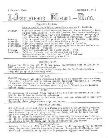 Ysselsteyns Nieuwsblad 1965-01-07