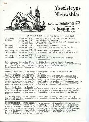 Ysselsteyns Nieuwsblad 1980-11-14