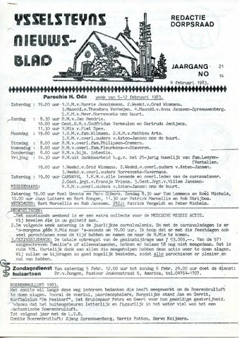 Ysselsteyns Nieuwsblad 1983-02-04